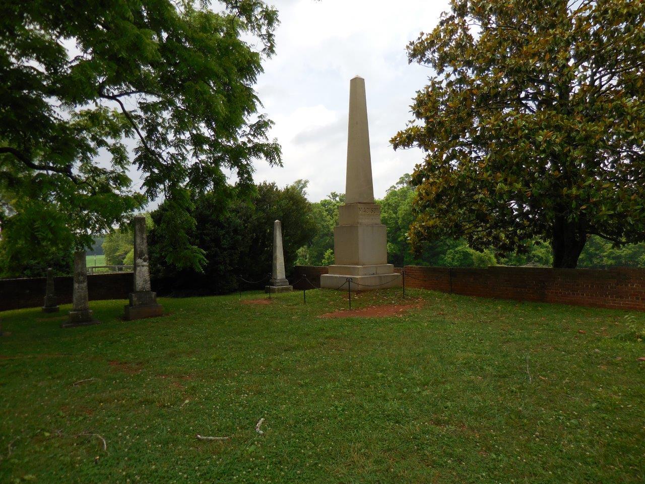James Madison grave marker