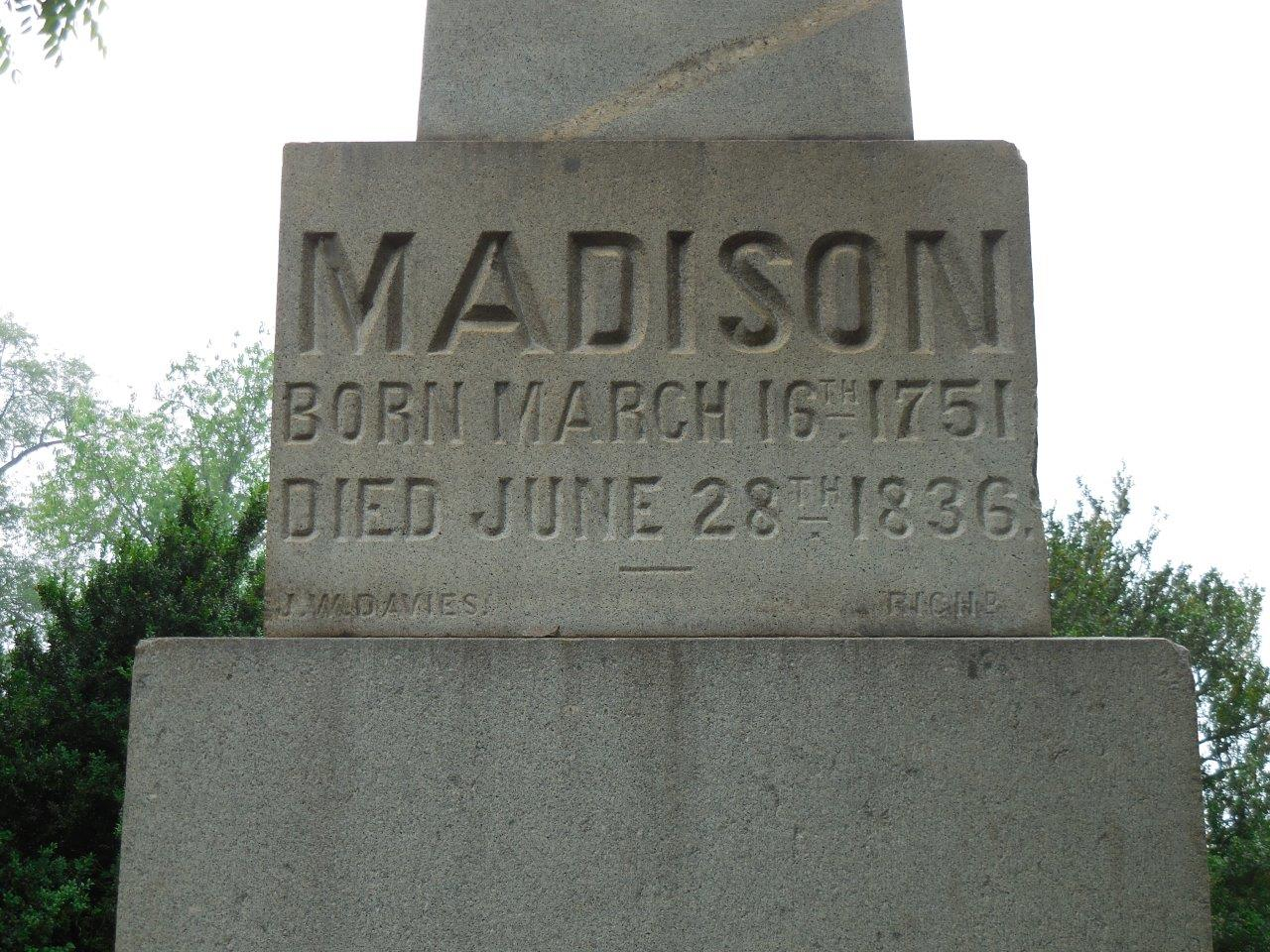 James Madison Gravesite - Montpelier - Orange County, Virginia