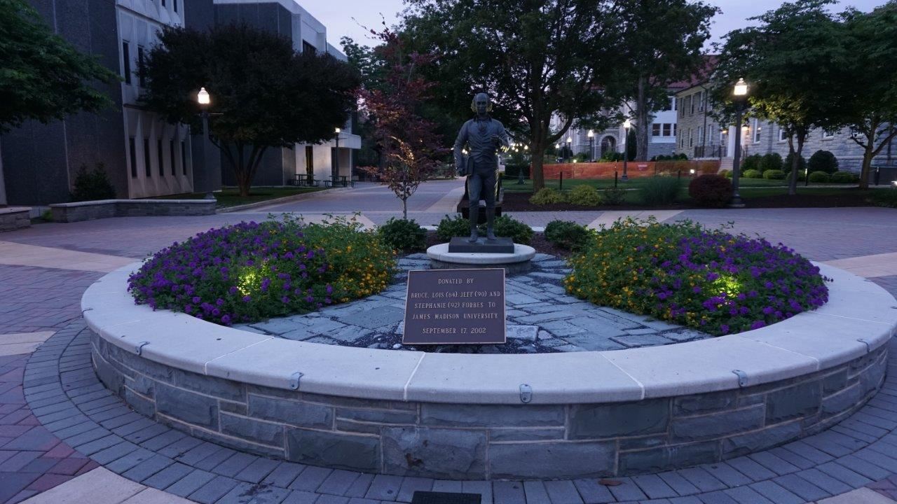 James Madison statue at James Madison University