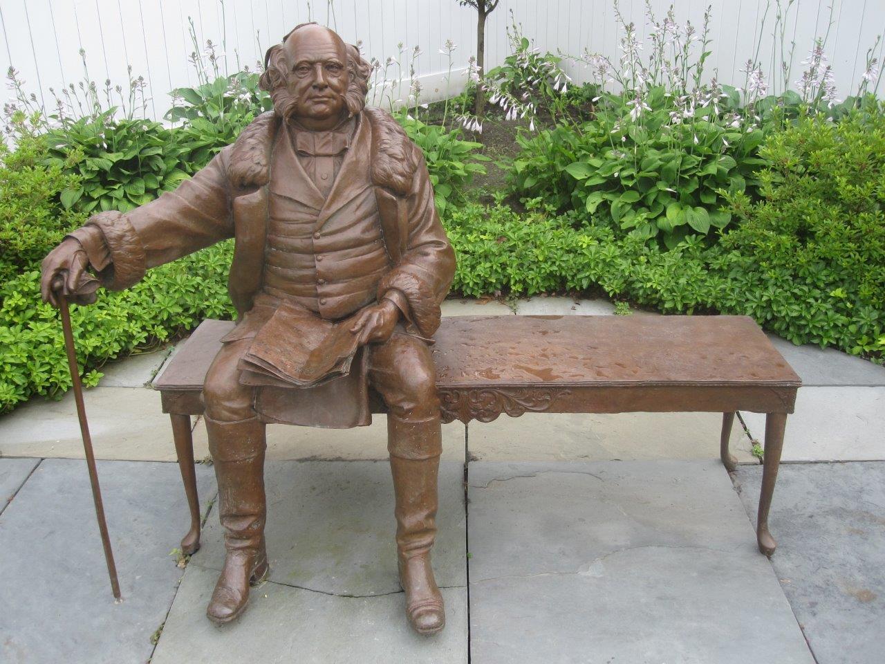 Martin Van Buren statue in Kinderhook, NY