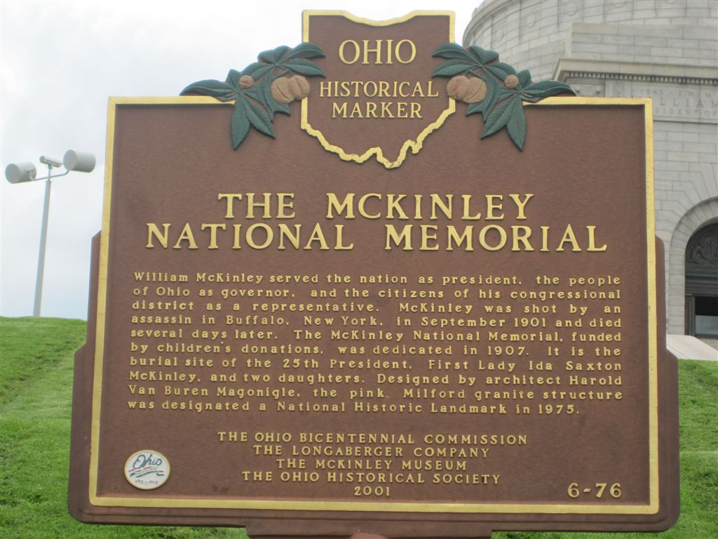 William McKinley tomb memorial marker