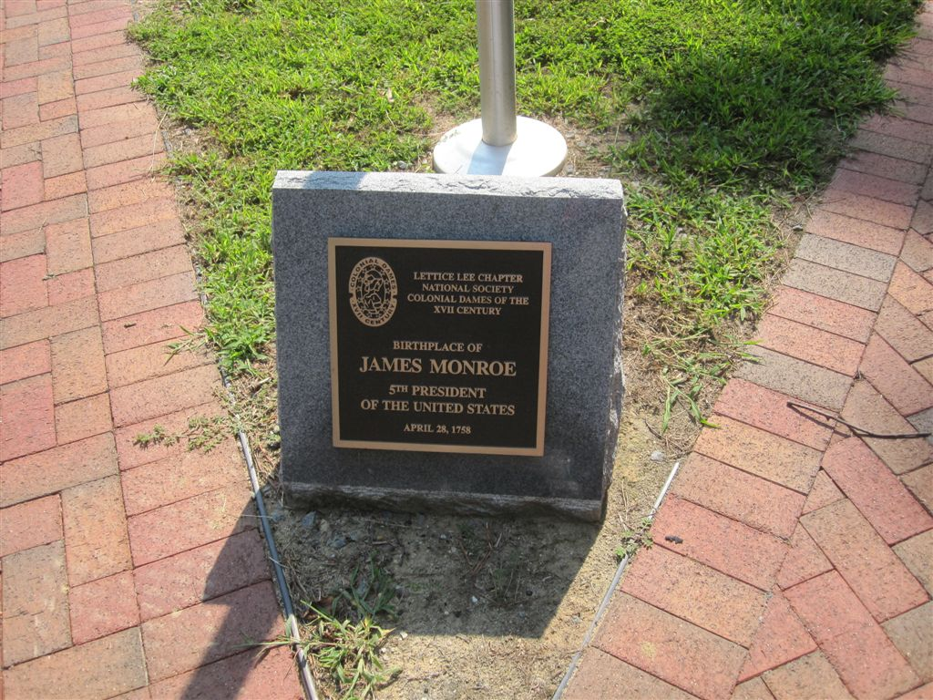 James Monroe birthplace historical marker