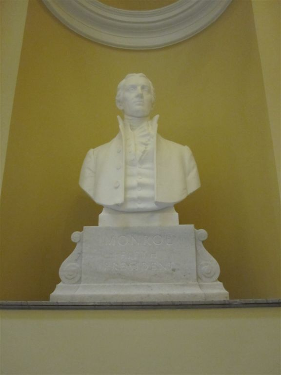 Monroe Bust at the Virginia State Capitol