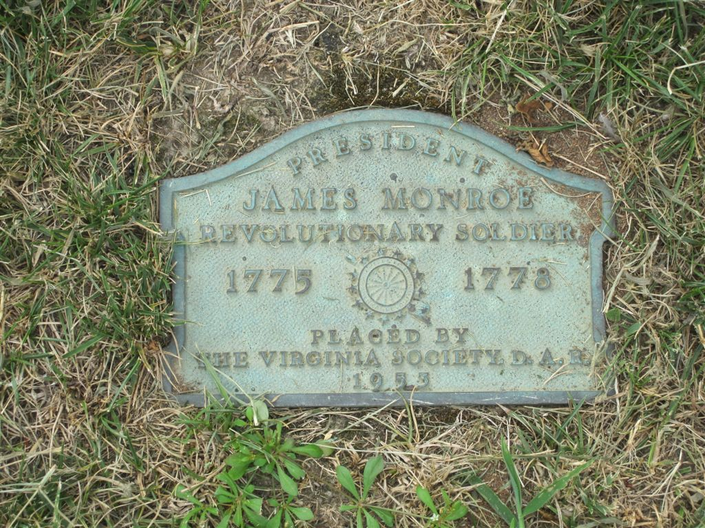 James Monroe grave historical marker