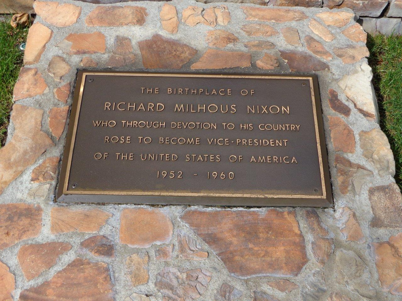 Richard Nixon birthplace historical marker