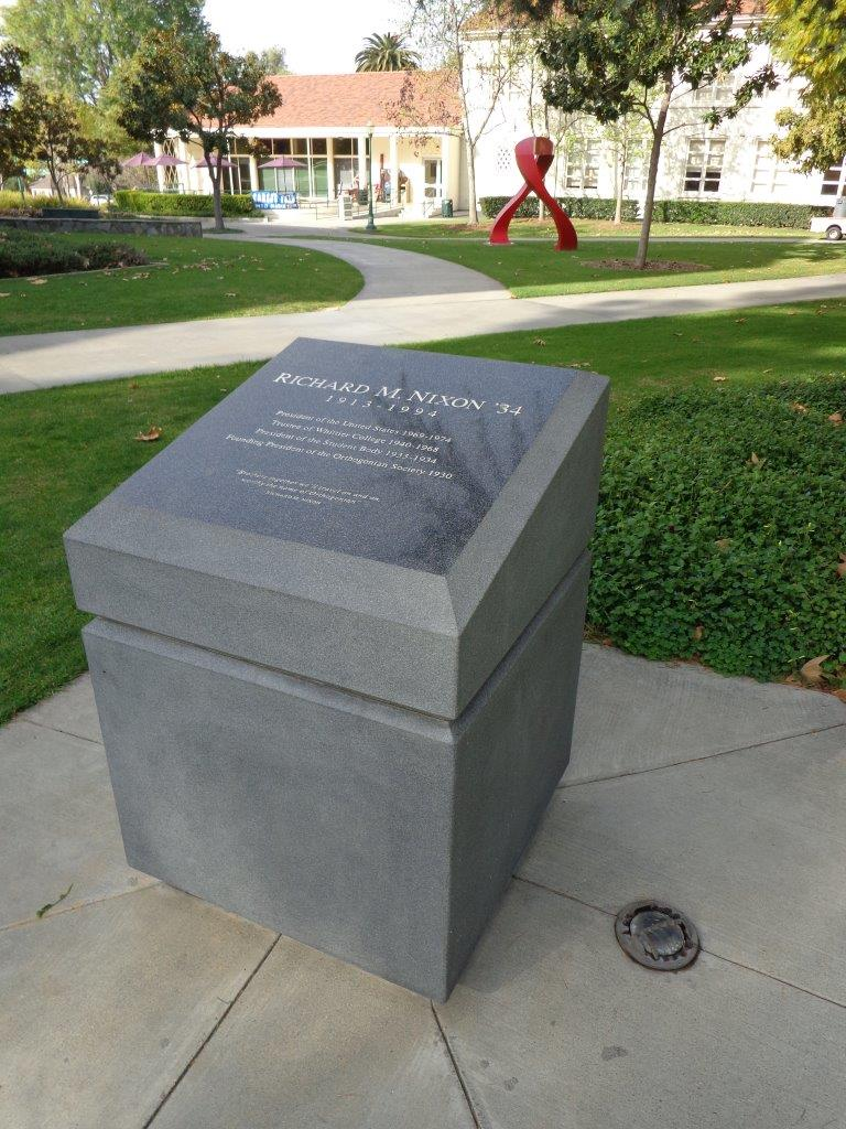 Nixon memorial at Whittier College
