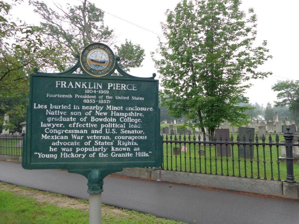 Franklin Pierce grave historical marker