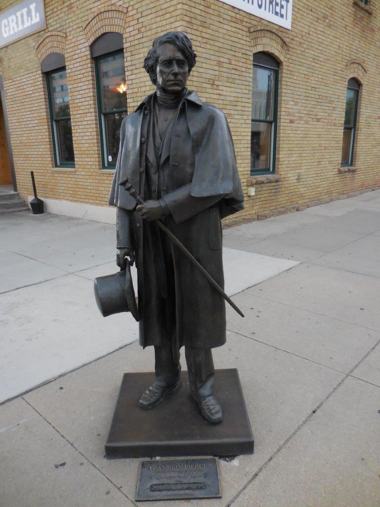 Franklin Pierce statue in Rapid City, South Dakota