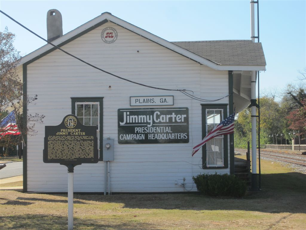 Jimmy Carter historical sites in Plains, Georgia