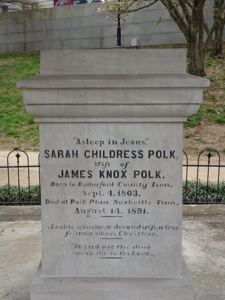 James Polk grave marker