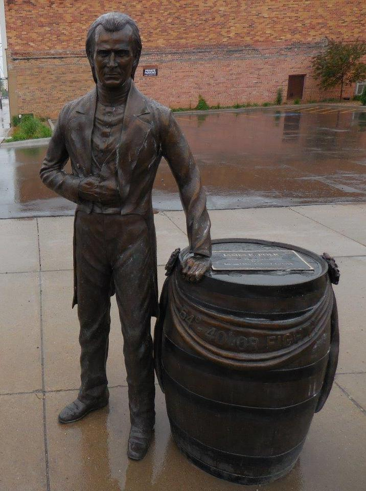 James K. Polk statue in Rapid City, South Dakota