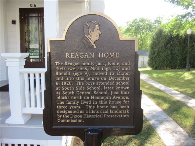 Ronald Reagan home in Dixon, Illinois
