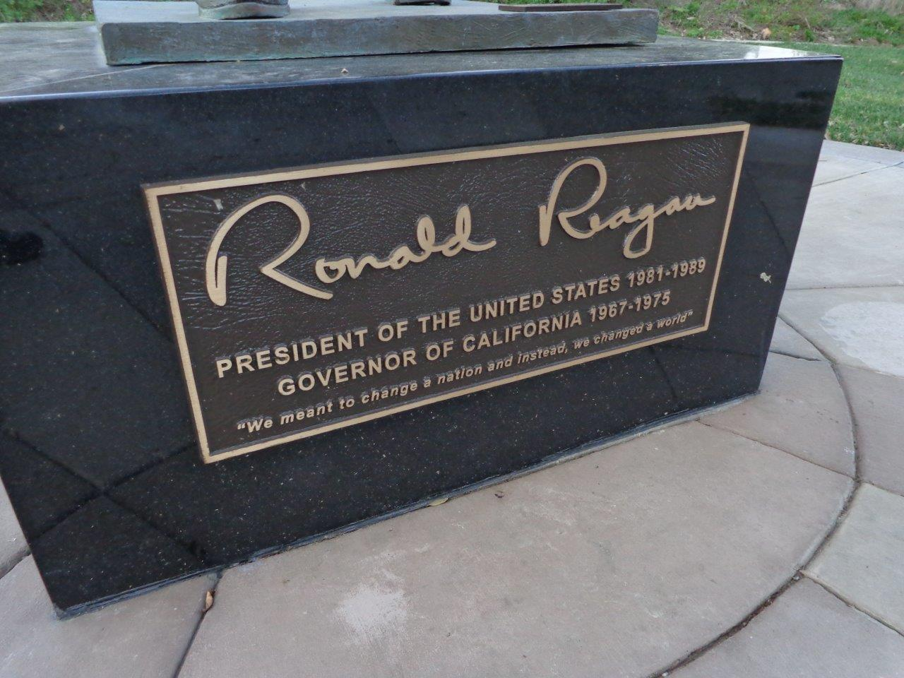 Reagan Statue in Newport Beach, California