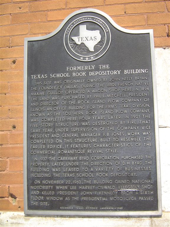 Texas School Book Depository monument