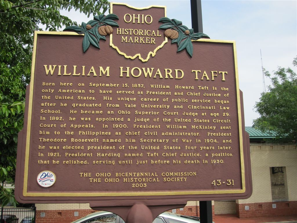 William Howard Taft birthplace historical marker