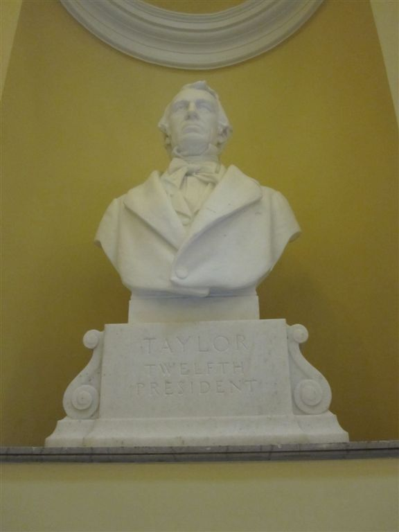 Taylor Bust at the Virginia State Capitol