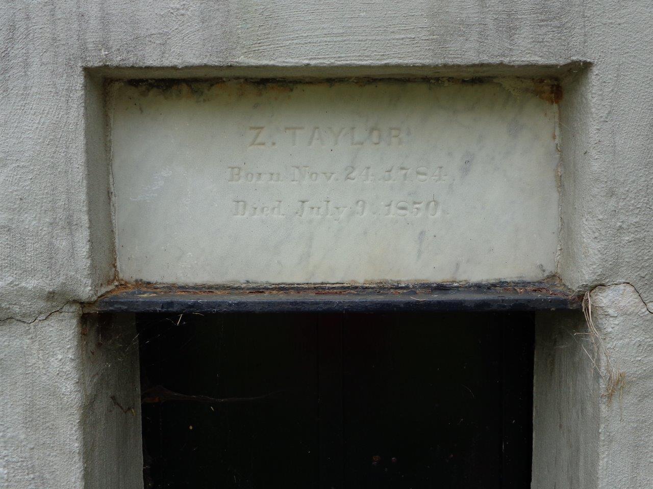 Zachary Taylor original gravesite