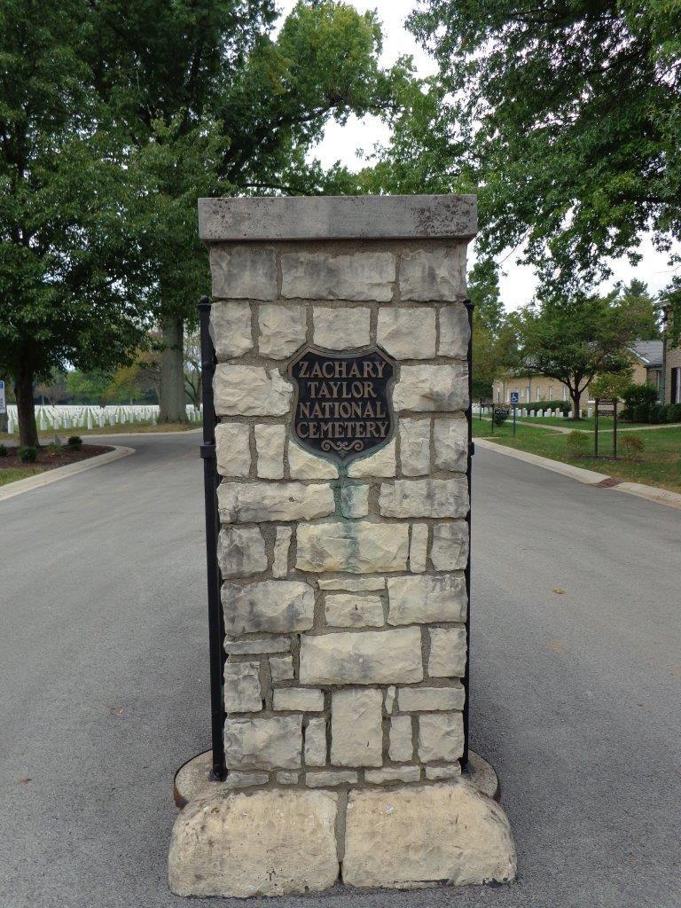 Zachary Taylor National Cemetery entrance marker