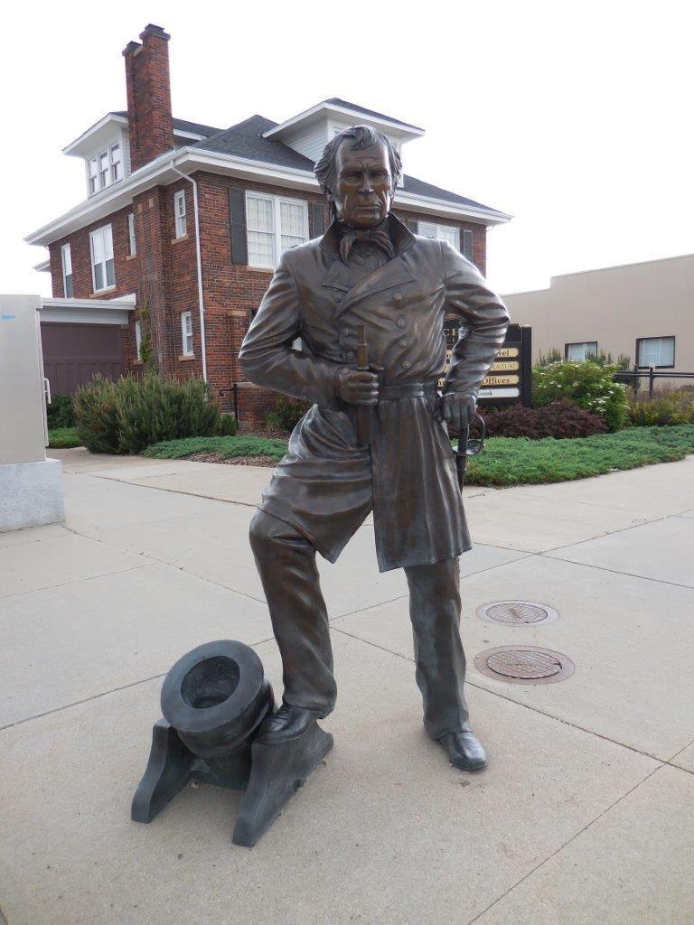 Zachary Taylor statue in Rapid City, South Dakota