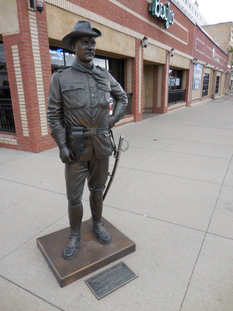 Theodore Roosevelt statue in Rapid City, South Dakota