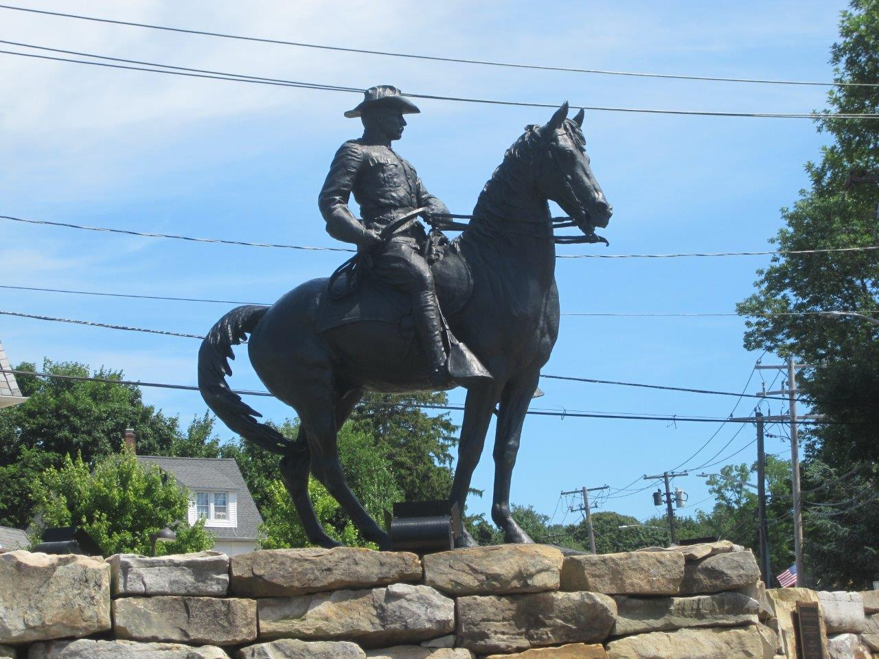 Theodore Roosevelt statue in Oyster Bay