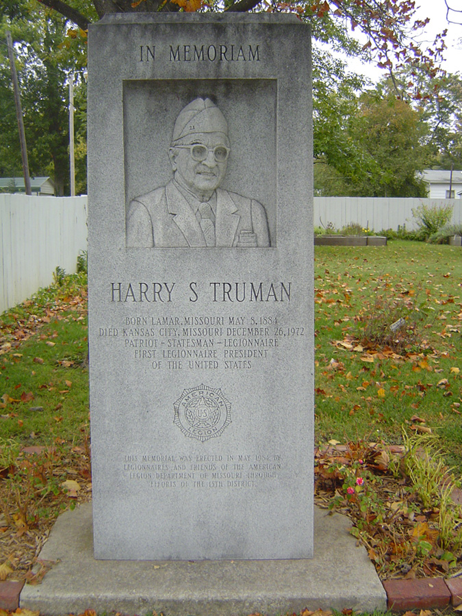 historical monument at Harry Truman's birthplace