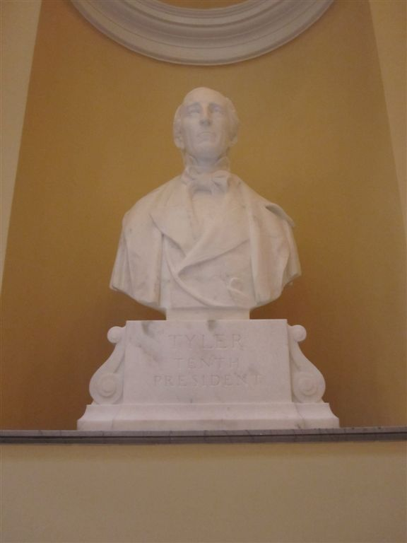 Tyler Bust at the Virginia State Capitol