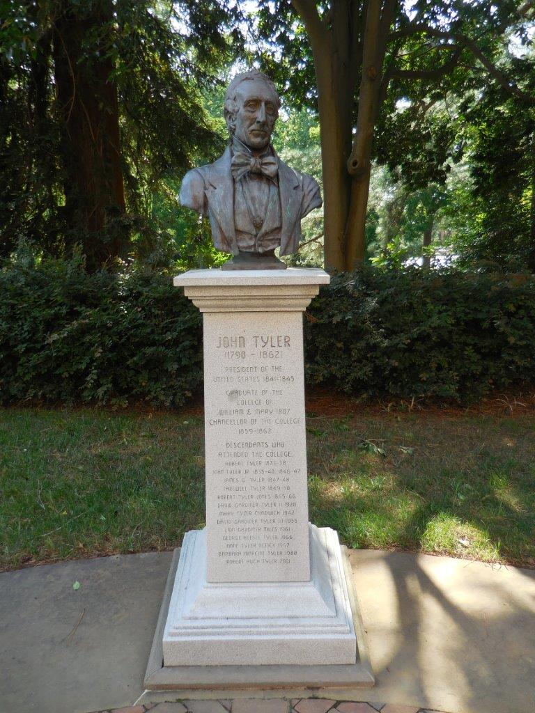 John Tyler bust at the college of William and Mary