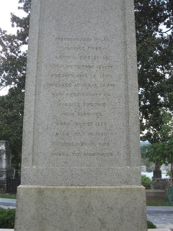 John Tyler grave stone