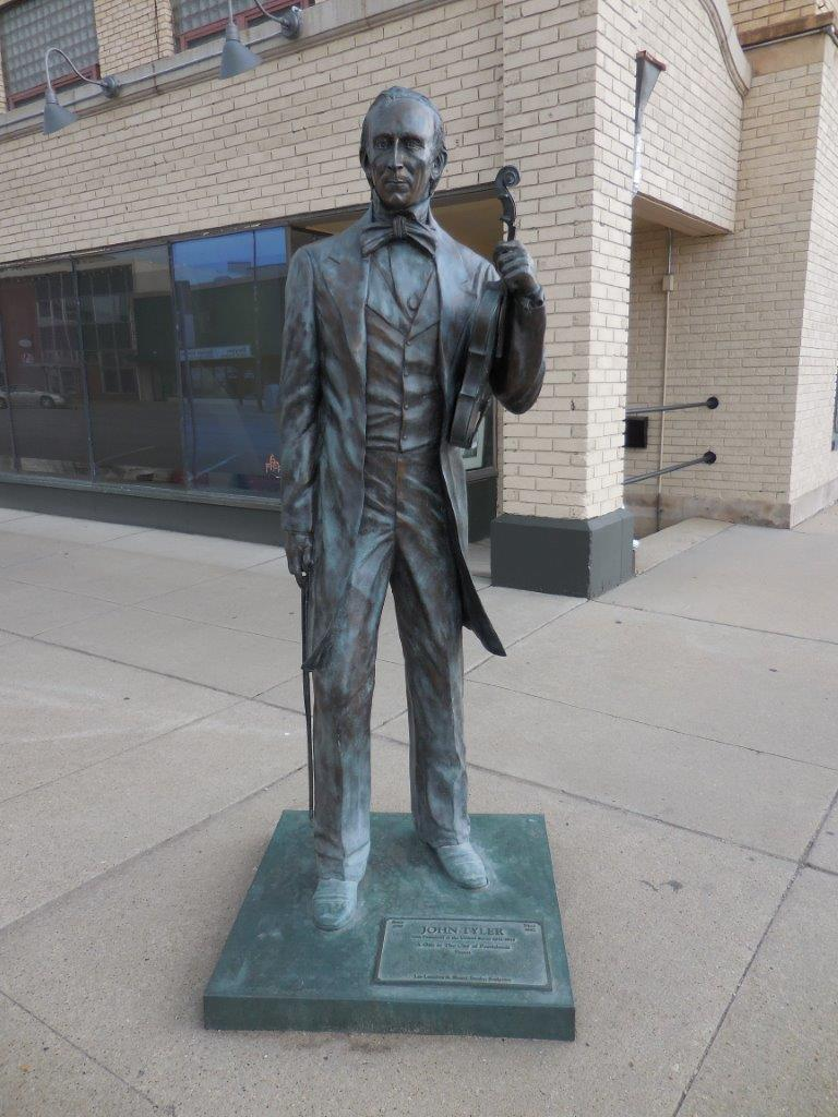 John Tyler statue in Rapid City, South Dakota