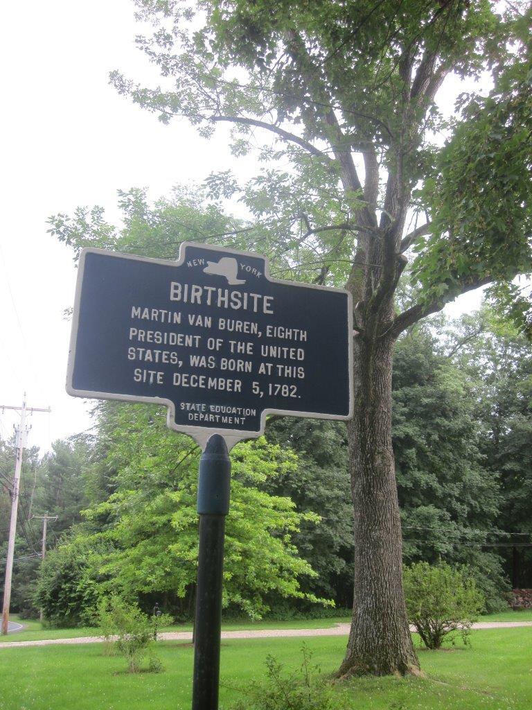 Martin Van Buren birthplace historical marker