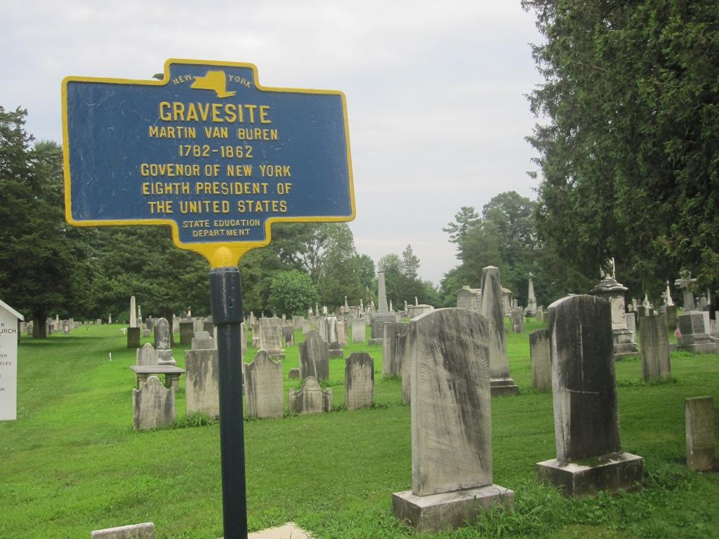 Martin Van Buren grave marker
