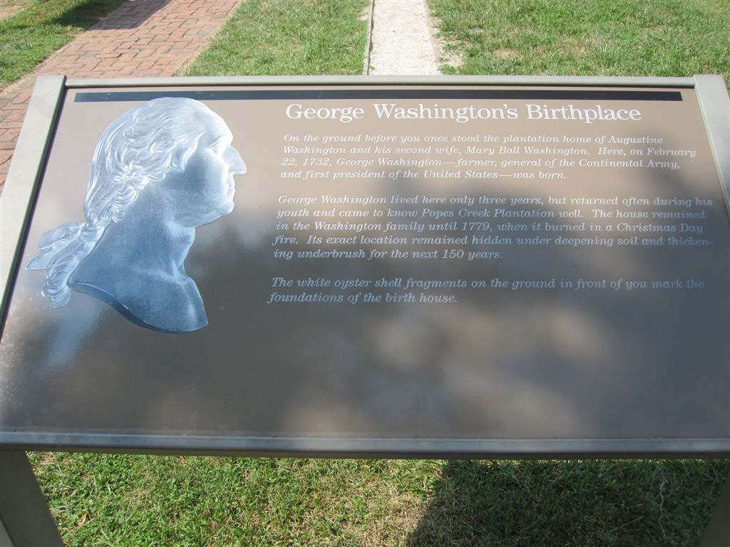 George Washington birthplace marker