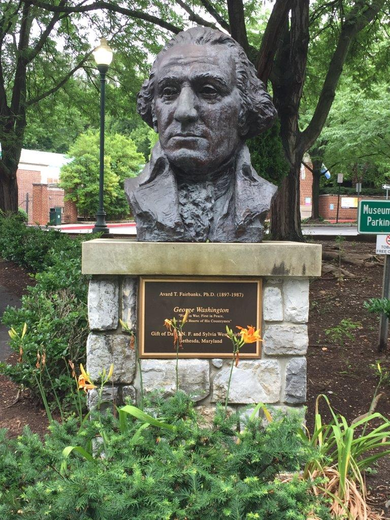 George Washington bust in Hagerstown, Maryland