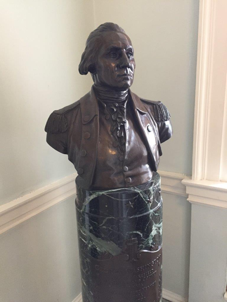 George Washington Bust at Massachusetts State Capitol