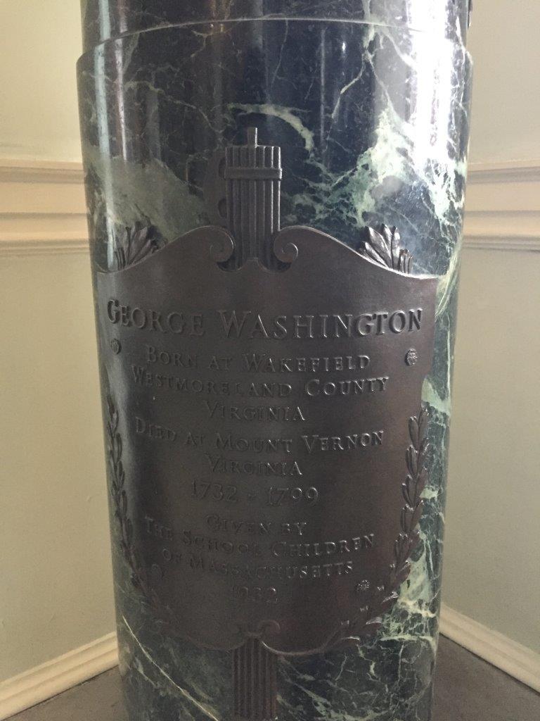 George Washington Bust at Massachusetts State House