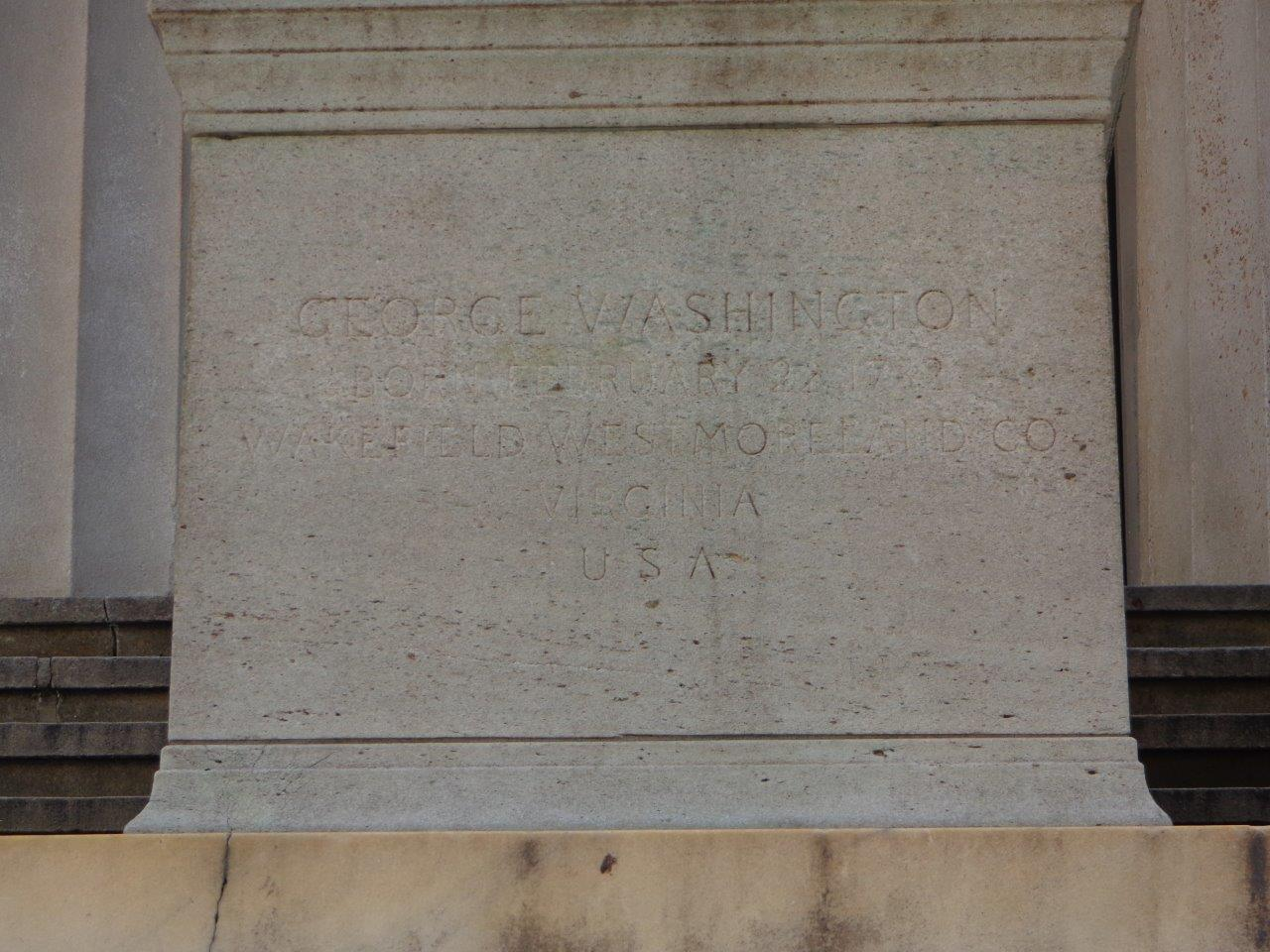 George Washingtion Inaugural site in New York City