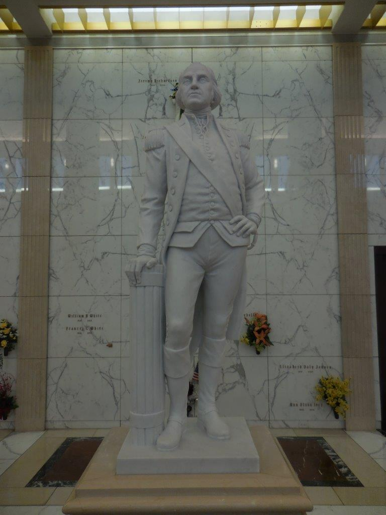 George Washington mausoleum statue in ft worth texas