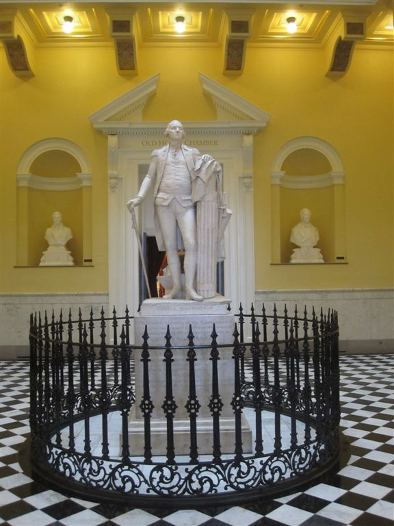 George Washington statue by Houdon in Virginia Capitol
