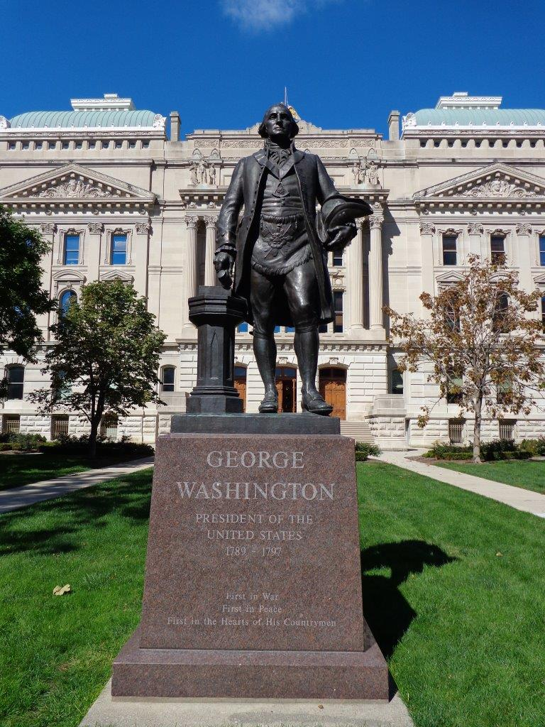 George Washington statue at Indiana Capitol