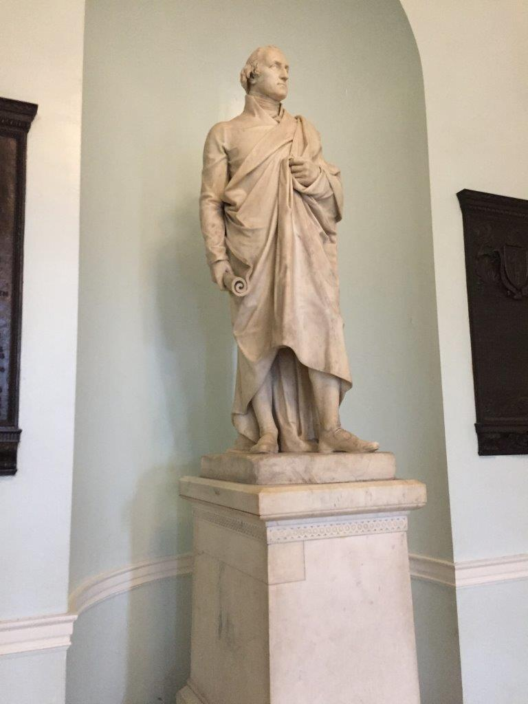 George Washington statue at Massachusetts State House