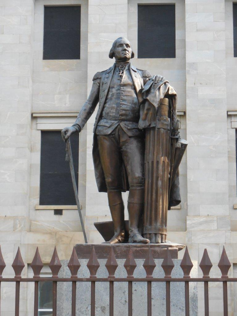 George Washington statue outside of North Carolina Capitol