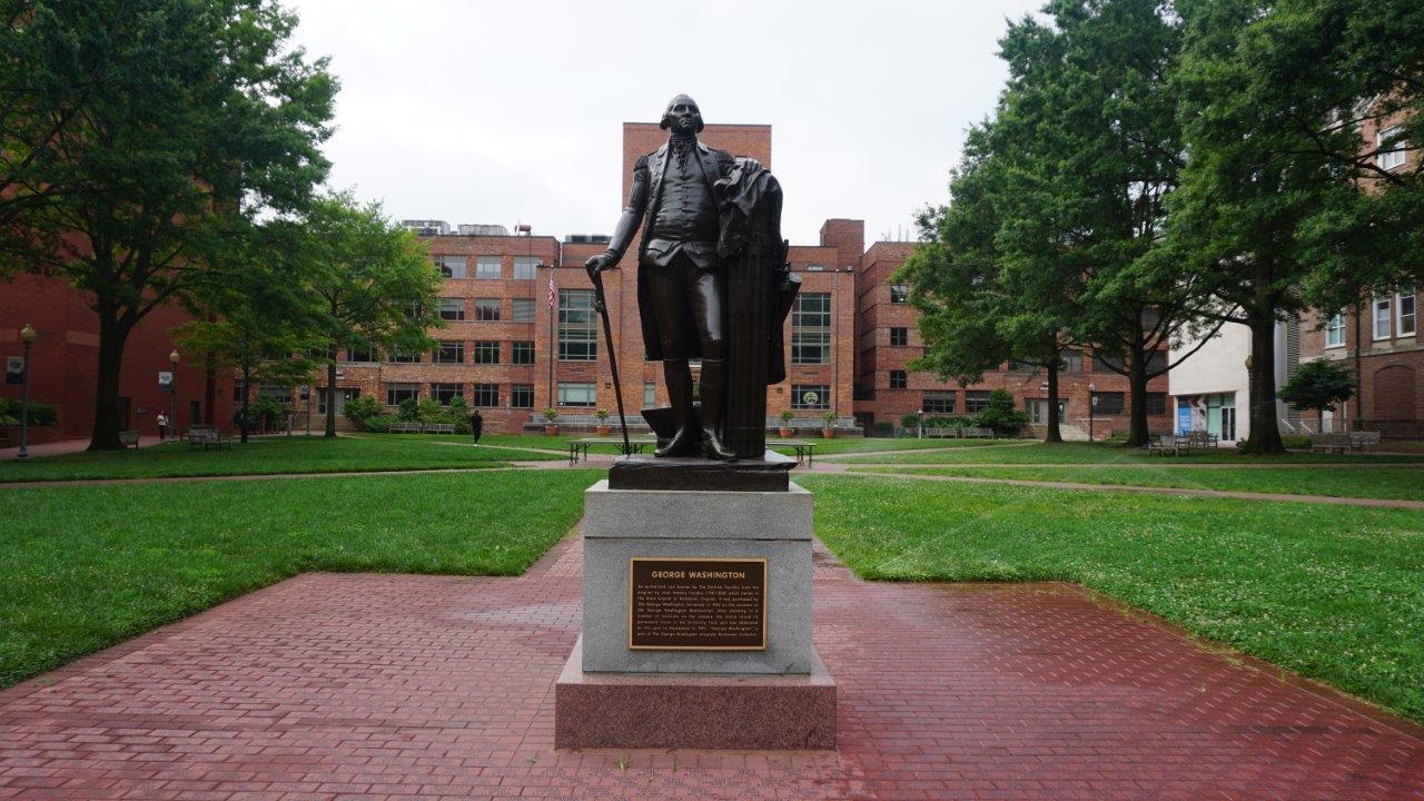 George Washington statue at George Washington University in DC