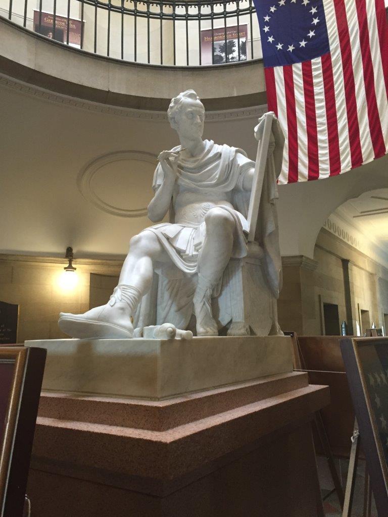 George Washington statue inside the North Carolina Capitol