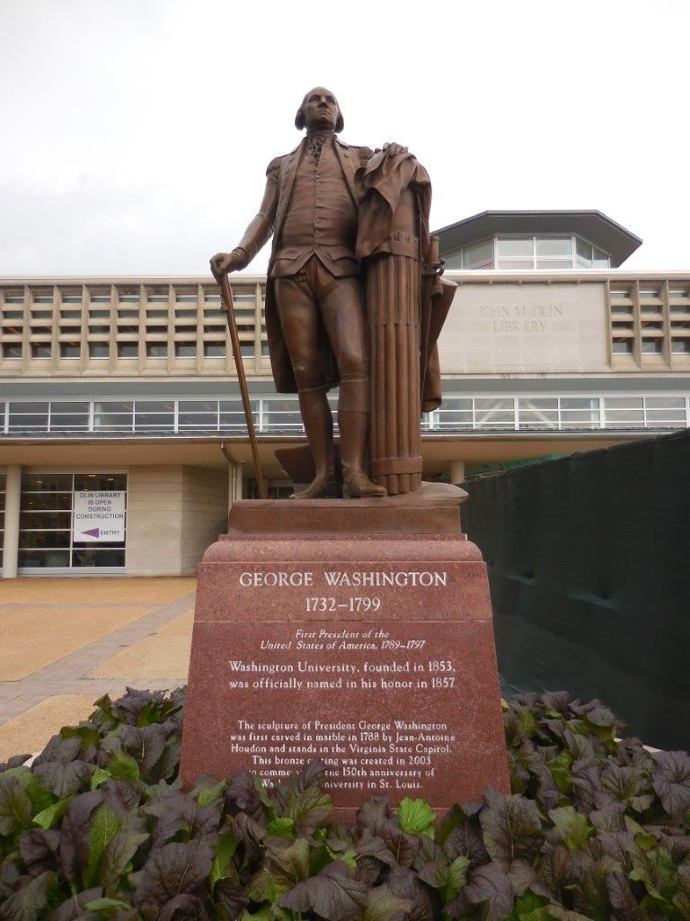 George Washington statue at Washington University in St. Louis