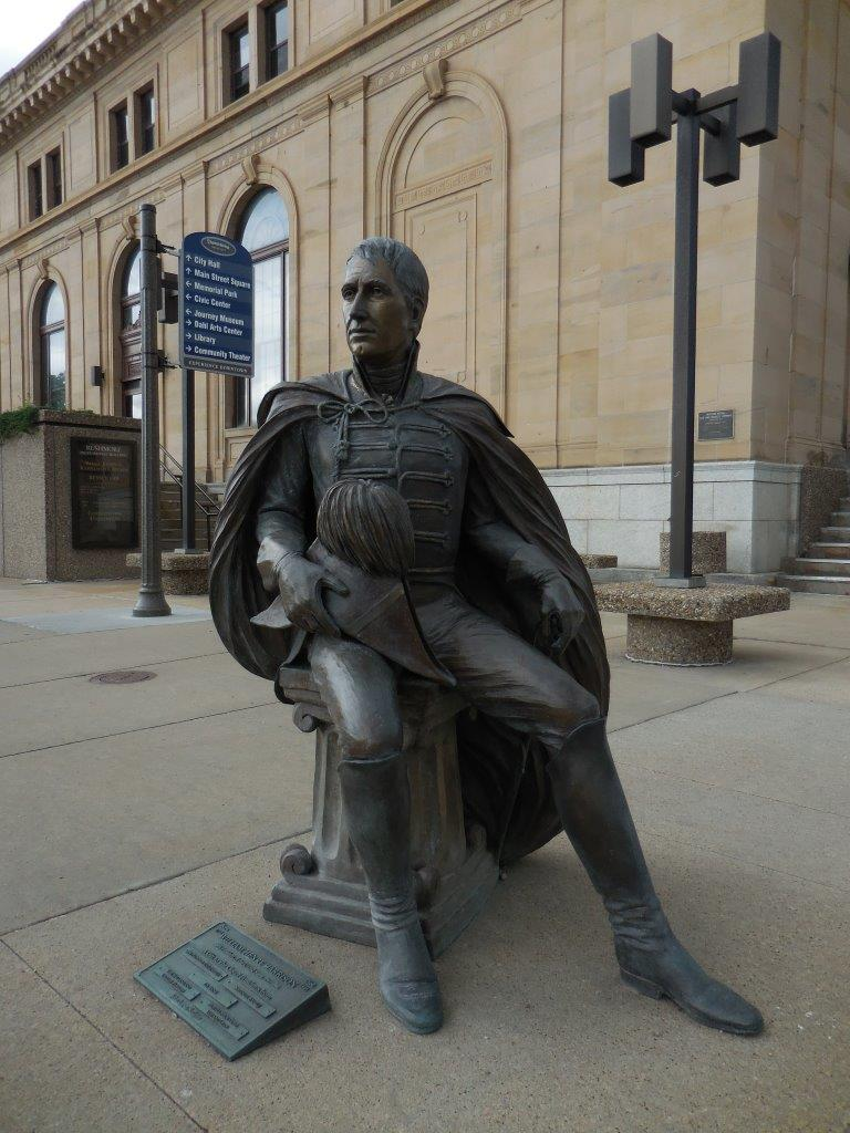 William Henry Harrison statue in Rapid City, South Dakota