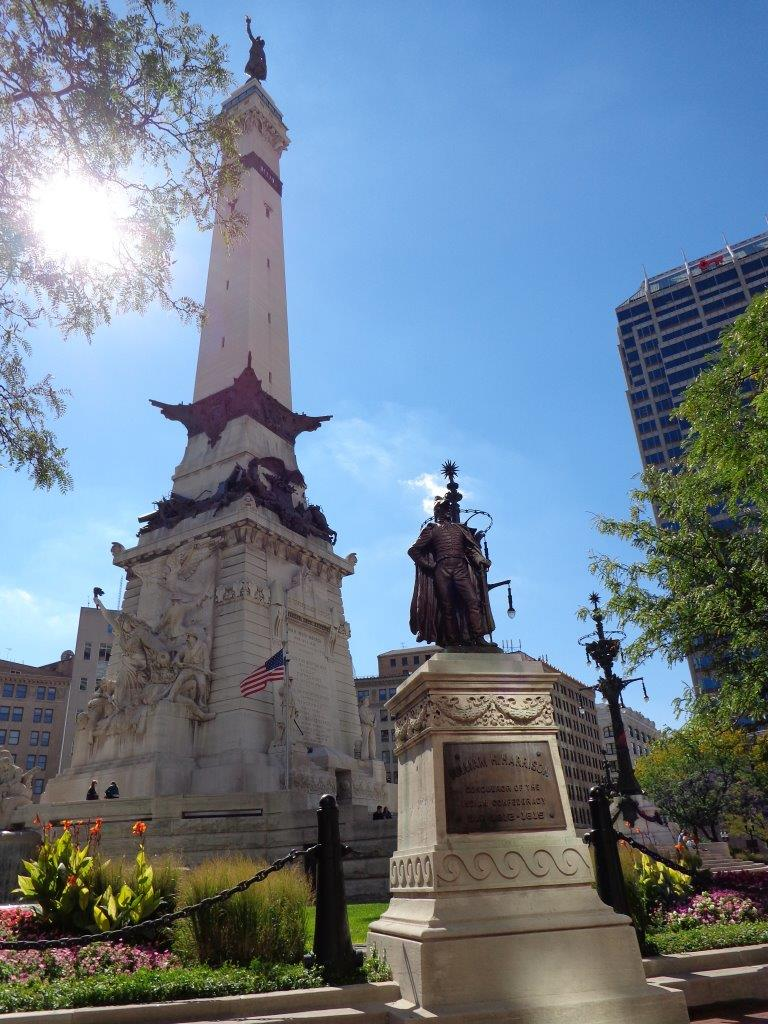 William Henry Harrison statue in Indianapolis