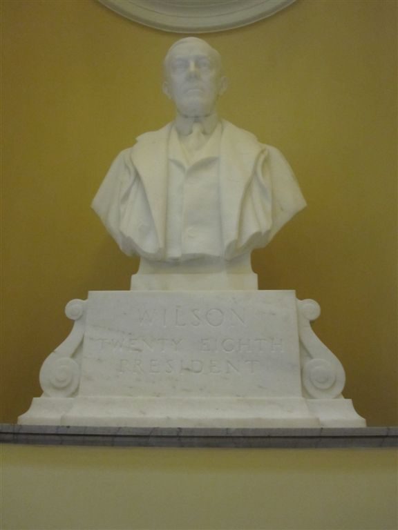 Wilson Bust at the Virginia State Capitol