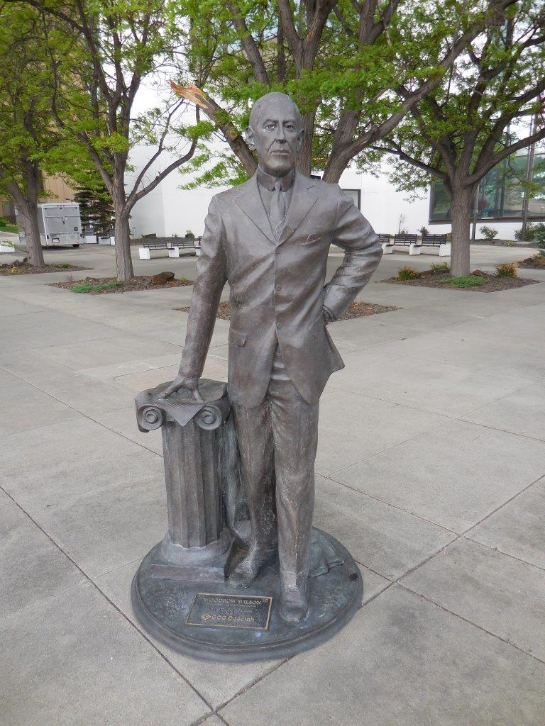 Woodrow Wilson statue in Rapid City, South Dakota