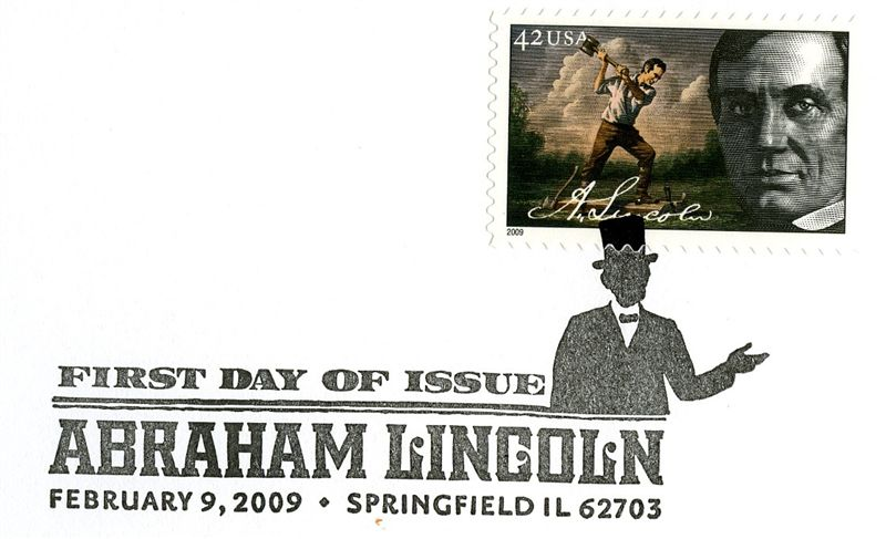 Lincoln Rail-Splitter Stamp